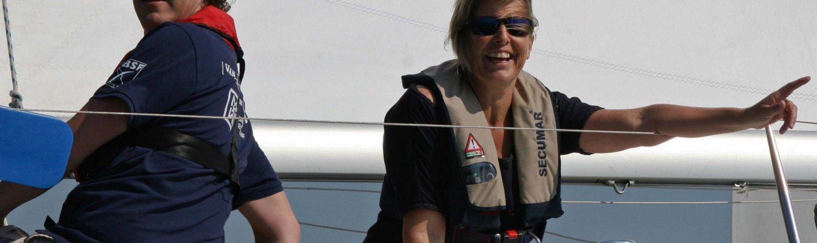 Plezier bij company sailing